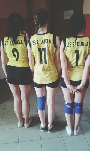 Mecz Wygrana Brawo Dziewczyny Polishgirl Volleyball Volleyball Team Love Winner Brunette