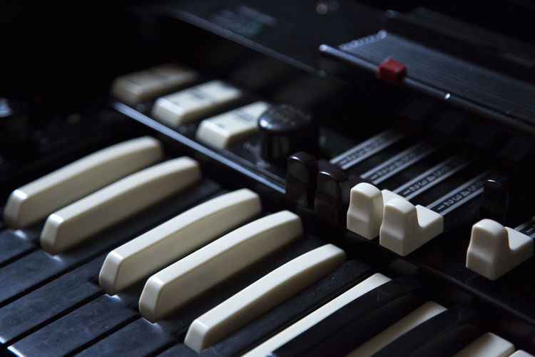 Close-Up Of Keyboard Instrument