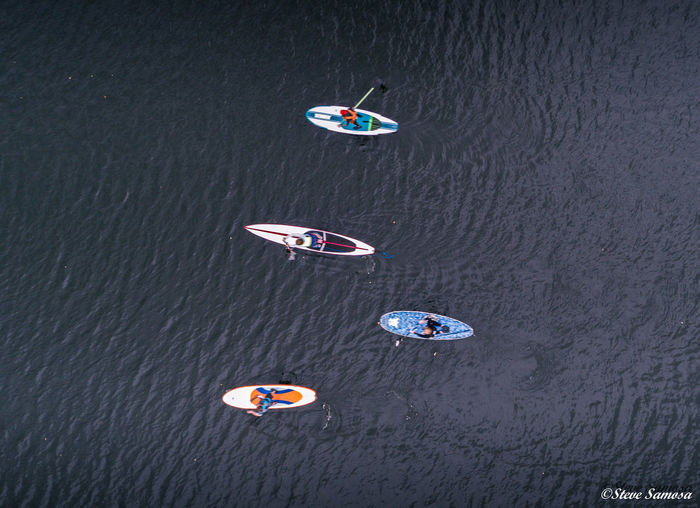 Drone  Paddle Boats Aerial Drone Photography High Angle View Lake Paddleboard Paddleboarding Water