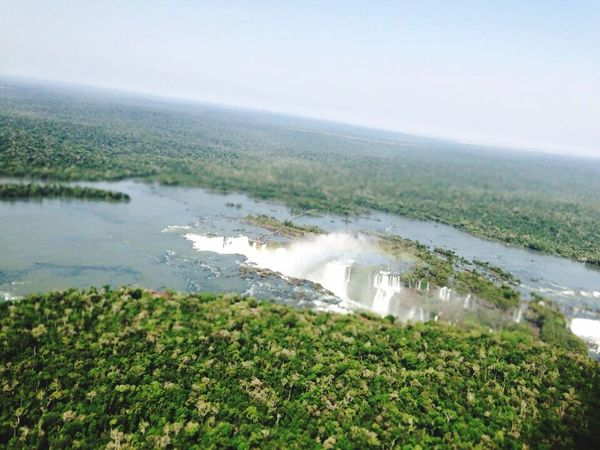 Iguazu falls Water Nature Beauty In Nature Day No People Landscape Sky Outdoors Birdeyeview
