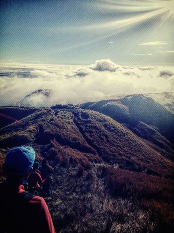 Adventure EyeEm Beauty In Nature Nature Love The Place Happy Mt.pulag Heart ❤ Happiness EyeEm Best Shots Philippines 😍😌😊 EyeEm Gallery Eyeem Philippines YOLO ✌ Nature Photography Mountain Summit Mountain View Sky And Clouds Sea Of ​​clouds Clouds Mountain