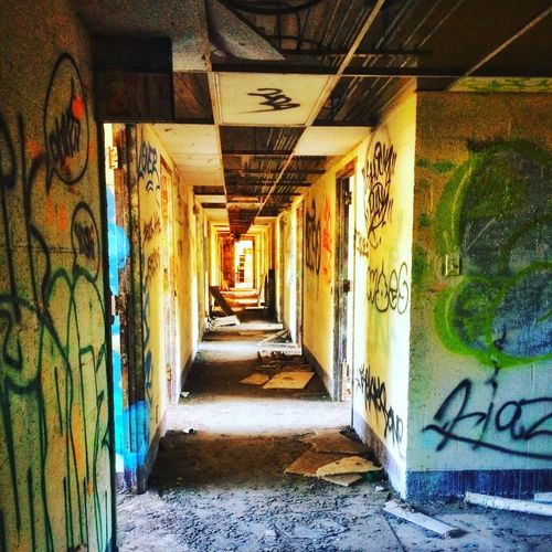 Michellerobertsonphotography Graffiti Architecture Corridor Abandoned Buildings