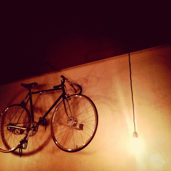 Great food & bikes on the wall!