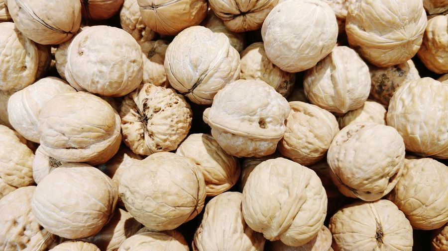 Food And Drink Full Frame Backgrounds Food Healthy Eating Large Group Of Objects Abundance Nut - Food Dried Food Nutshell No People Dried Fruit Close-up Day Outdoors Freshness Juglans Regia Magnoliophyta Juglandaceae Walnut Dried