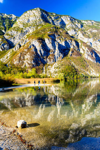 Nature Sky Day Bohinjsko Jezero Mountain Water Reflection Lake Scenics - Nature Beauty In Nature Rock Tranquility Rock - Object Tranquil Scene Solid Non-urban Scene Mountain Range No People Landscape Outdoors Formation