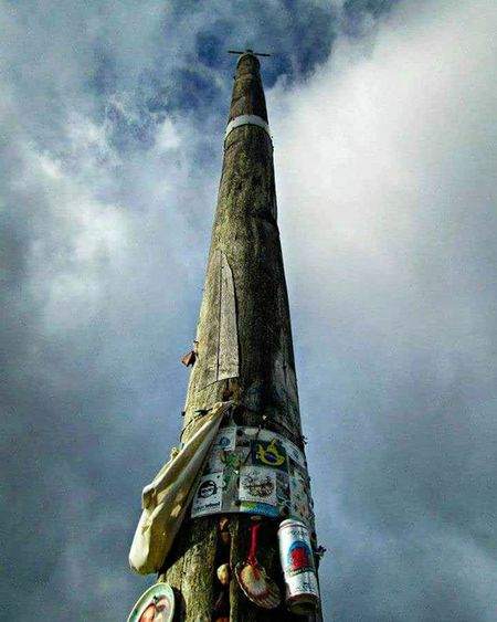 Cruz de ferro on the Camino de Santiago. SPAIN Travel Adventure CaminodeSantiago Hike Hiking Camino Ontopoftheworld Santiago Europe BuenCamino Theway Path Cloudy Clouds Cloud Cloudysky View Walk Walking Cruzdeferro Rockpile Thewaytosantiago Thewayofstjames