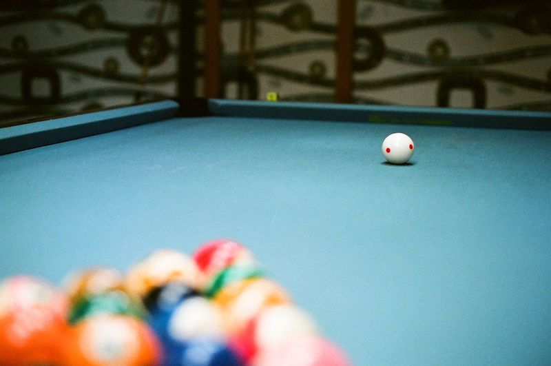 Alone Ball Billiard Billiard Ball Billiard Table Billiards Color Colorful Colors Film Film Photography Filmisnotdead Loneliness Lonely Pool Pool Billard Sad Sadness Snooker Still Life Vintage White