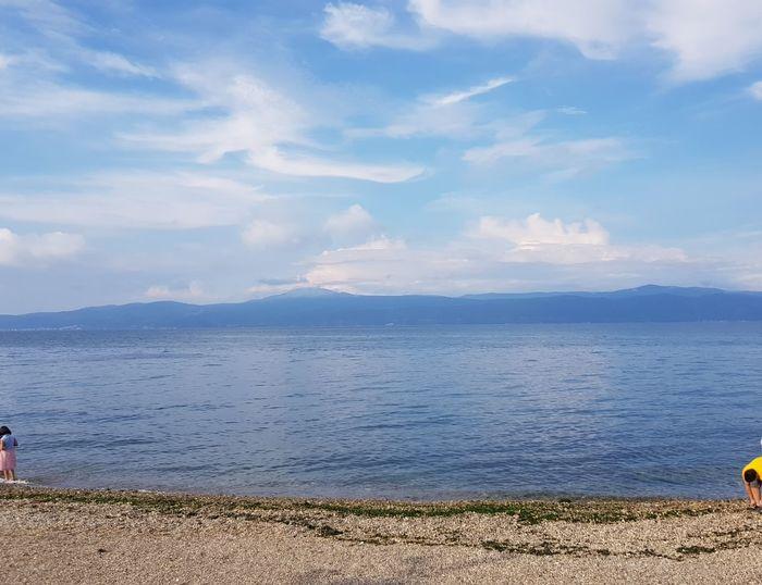 Water Sea Beach Mountain Sand Summer Blue Pebble Sunny Sky