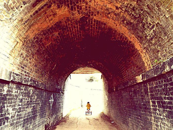 Railwaybridge Sunday Afternoon SundayFunday Walking The Dog Playing With Colours Playingwithfilters Tunnel People Springtime Contrast Retro Brick History Train EyeEm Tunneloflove Happymoments Memories
