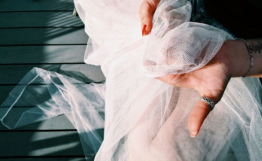Human Body Part People Shadow One Person Adult Only Women Young Women Young Adult Wedding Dress Day Close-up Bride One Woman Only Human Hand One Young Woman Only