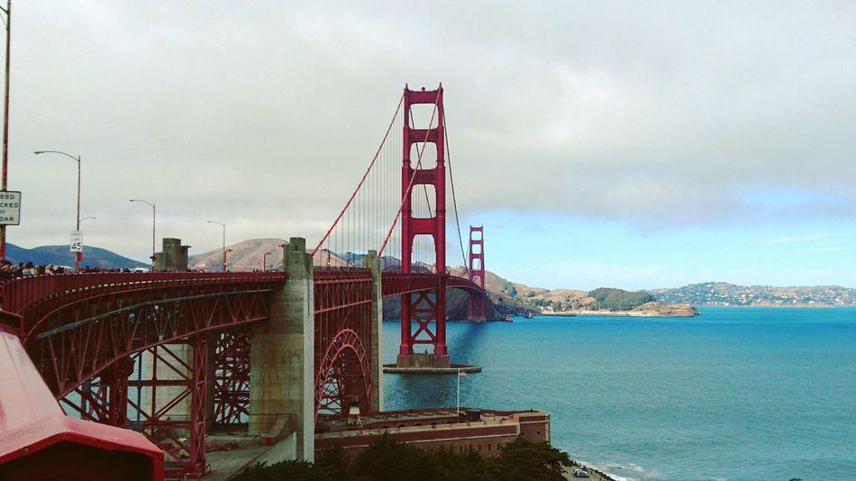 San Francisco City California City Life Golden Gate Bridge GoldenGateBridge Golden Gate Bridge Is Red Ocean Water