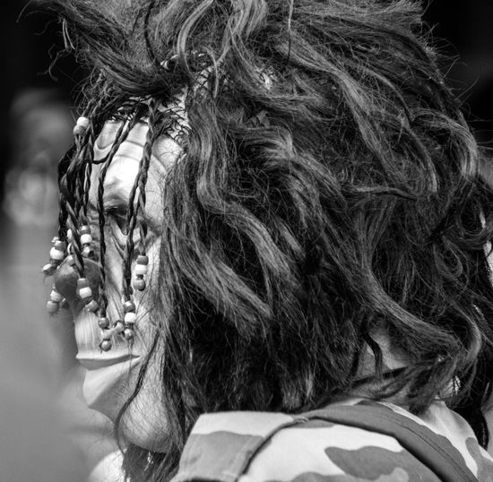 Carnaval de Paris Carnival EyeEm Best Shots EyeEm Gallery EyeEmBestPics Braided Close-up Day Eye4photography  Focus On Foreground Headshot Human Hair Lifestyles Long Hair One Person Outdoors People Portrait Real People Rear View