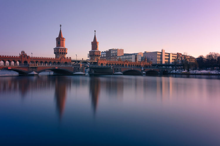 Oberbaumbrücke in Berlin Kreuzberg. Architecture Berlin Bridge Building Exterior Built Structure Canal Capital Cities  City Cityscape Europe Famous Place Fineart Germany International Landmark Kreuzberg Long Exposure Oberbaumbrücke Outdoors Philipp D Reflection River S Water Waterfront Winter