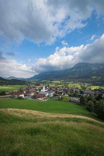 Ellmau Clouds Ellmau Tirol  Cloud - Sky Environment Sky Architecture Mountain Landscape Scenics - Nature Grass Built Structure Building Exterior Green Color Field Plant Land Nature Building Tranquil Scene No People Beauty In Nature Day Mountain Range Outdoors Mountain Peak