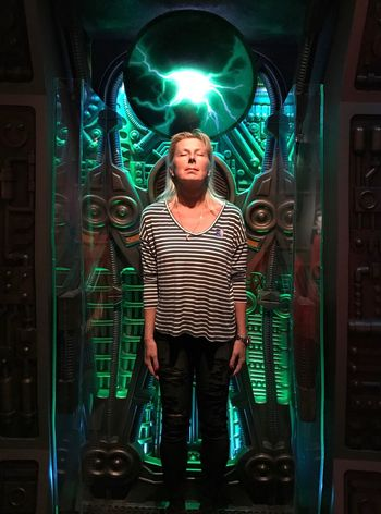 Regenerating in my Borg Alkoven One Person Front View Green Color Real People Young Adult Lifestyles People Only Men Adults Only One Man Only Adult Men Indoors  Human Body Part Star Trek Voyager Borg Science Fiction Chance Encounters Miles Away