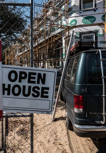 Open House. Industry Built Structure Outdoors Sky Day Construction Site Construction Van Scaffolding Savannah 365project