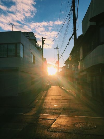 Sky Sunlight Lens Flare Sun Sunbeam No People Japan Narita Tokyo Clouds And Sky Day Sunset Outdoors Loveit Daily Life