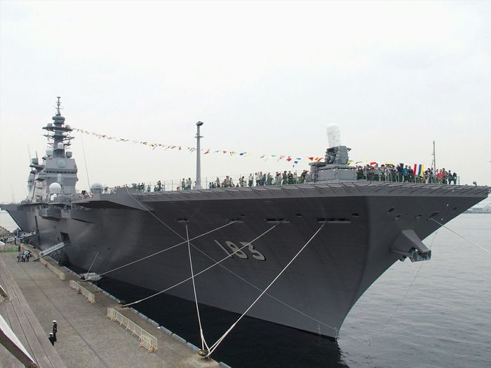 DDH-183 Helicopter Destroyer IZUMO.いずも型護衛艦いずも 横浜に停泊中(  ̄▽ ̄) Military MilitaryPhotography Japan Ship Military Ship Photography Taking Photos ~カメログまたここで~ Streamzoofamily