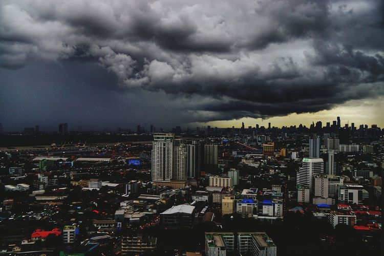 Bangkok Travel Photography Cityscape Cloud - Sky Dramatic Sky Storm Cloud Skyscraper Night City Urban Skyline City Life Storm Downtown District Outdoors Aerial View Modern Sky Building Exterior Sunset No People Architecture