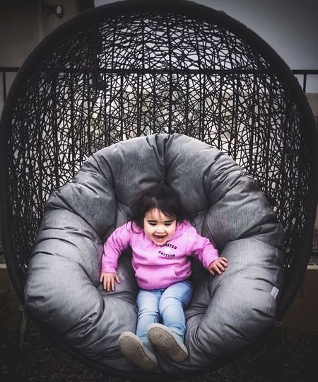 Portrait Swing One Person Relaxation Real People Front View Lying Down Women My Best Photo Lifestyles Full Length Females Girls Childhood Casual Clothing Child High Angle View Leisure Activity