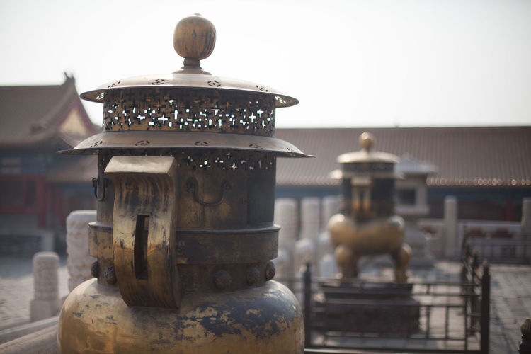 Antique Metal Structures At Forbidden City