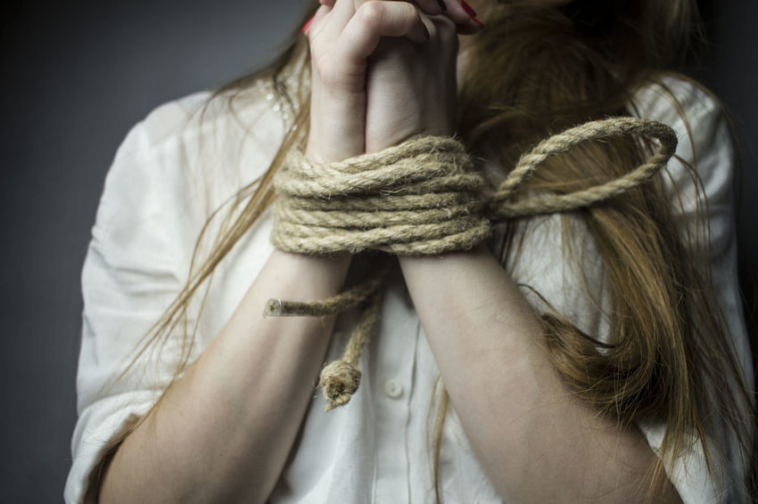 woman's hands tied with rope Stress Slave Rope Roleplay Prision Kidnapping Jail Helping Refugees Help Freedom Fear Captivity Bondage. Bdsmlifestyle Bdsmcommunity Relax Adult Tendence Sex