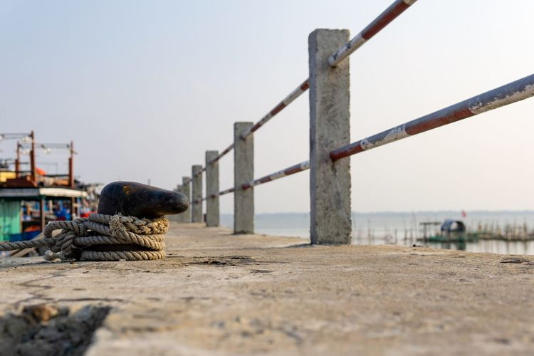 Small but sure. Huế Rope Tranquility Vietnam Bay Boat Clear Sky Countryside Dock Estuary Fence Fishing Boat Fishing Industry Lake Moored Nature Nautical Vessel No People Outdoors Pier Port Selective Focus Tranquil Scene Water Wharf