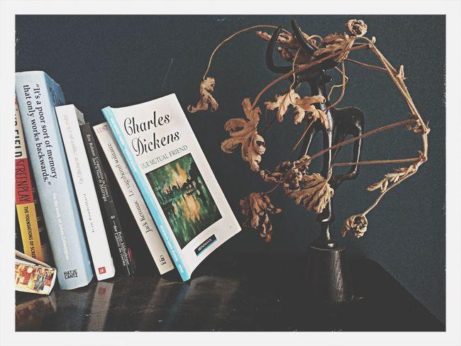 Flowers Books Bedroom Afternoon