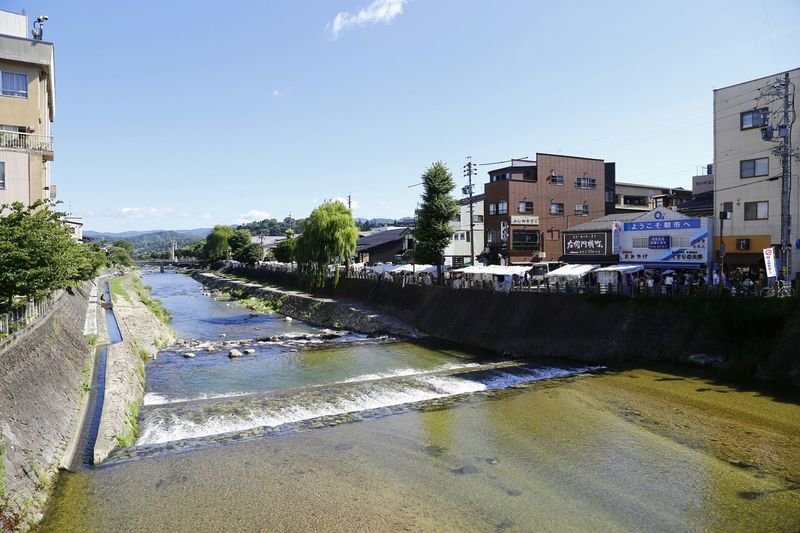 Takayama River View Good Morning Morning Sky Morning Walk Takayama-shi Hidetaketakayama Ultimate Japan