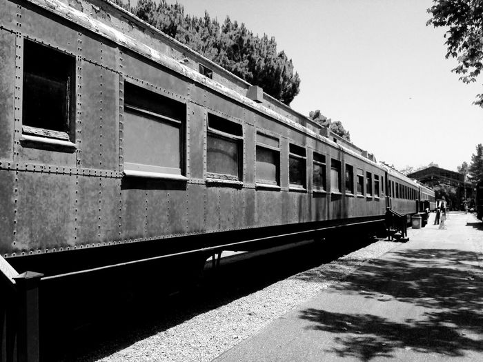 View of train in yard