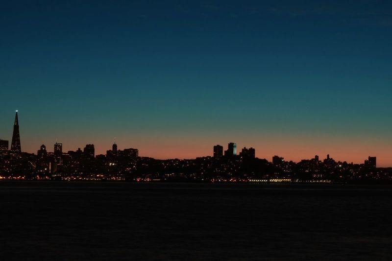 The Great Outdoors - 2017 EyeEm Awards Architecture City Urban Skyline Travel Destinations No People Sunset Silhouette Waterfront San Francisco EyeEm Selects