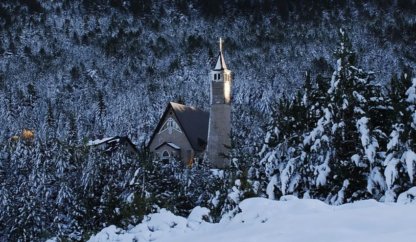 Winter Snow Architecture Cold Temperature Outdoors Built Structure Travel Destinations Building Exterior Nikon Blidinje Herzegovina Colors Nature Beauty In Nature Church Buildings Shades Of Winter