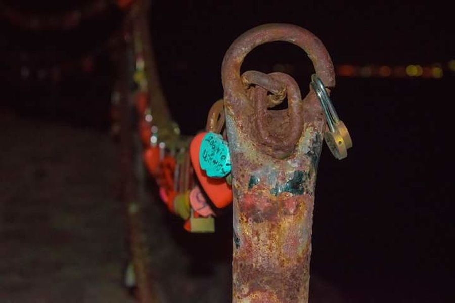 Post Rust Locks Of Love Paint Multi Colored No People Outdoors Close-up Day