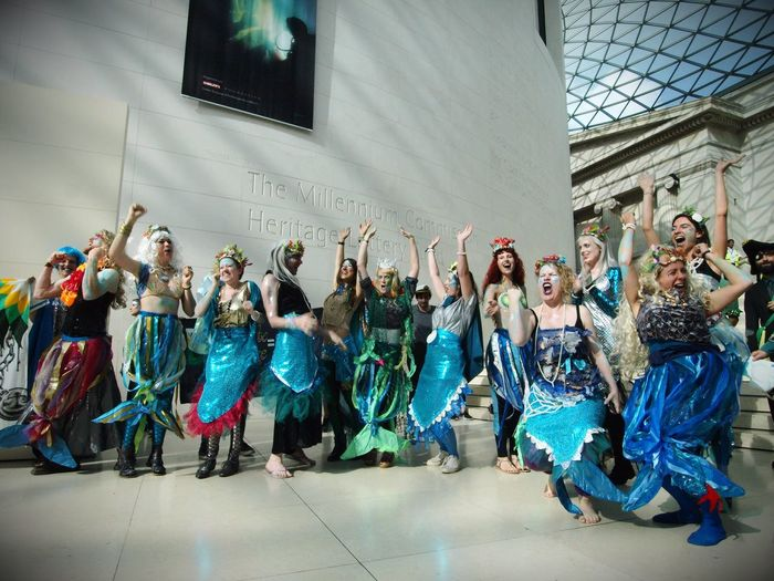 BP or not BP, anti BP sponsorship flash mob at the British museum. 25/09/2016 Protest against BP's sponsorship of the British Museum, mermaid flashmob. Including the BP Kraken,(Octupus) the BP Pirates and heaps of mer persons... Zuiko Stevesevilempire Steve Merrick Protect Our Oceans Sponsorships Anti BP Sunkencities News Fossil Fuels Flashmob British Museum BP Or Not Bp Oil London Protest Environment Protest Mermaids BP Sponsorship Environment