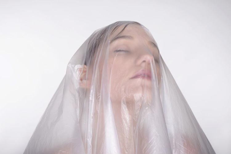 Conceptual portrait of a young woman