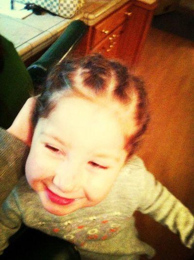 My little cousin got cornrolls lmao