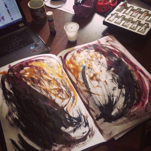 Artt Sketchbook doing work for school :)