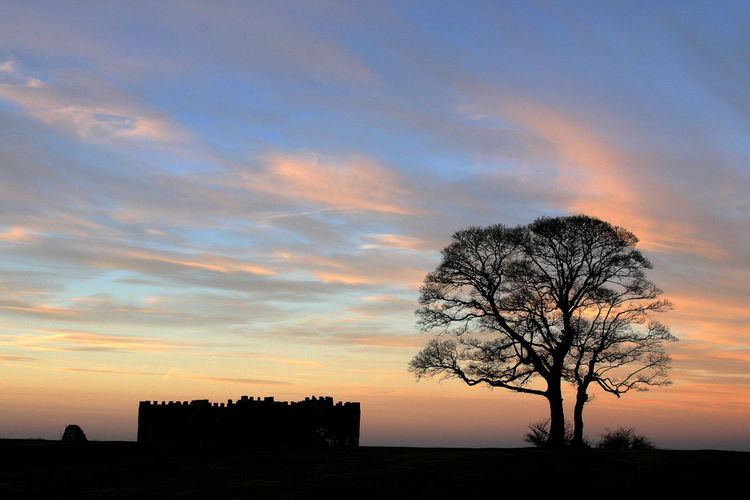 Bare Tree Beauty In Nature Bromsgrove Day Landscape Lickey Hills Lone Man-made Structure Nature No People Orange Color Outdoors Scenics Silhouette Sky Sunset Tranquil Scene Tranquility Tree Worcestershire