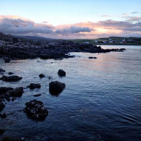 Sunset across the coastline near Ullinish on the west coast of Skye Scotland Skye Beauty In Nature Cloud - Sky Highlands Highlands Of Scotland Land No People Non-urban Scene Rock Sea Sky Sunset Tranquil Scene Tranquility Water