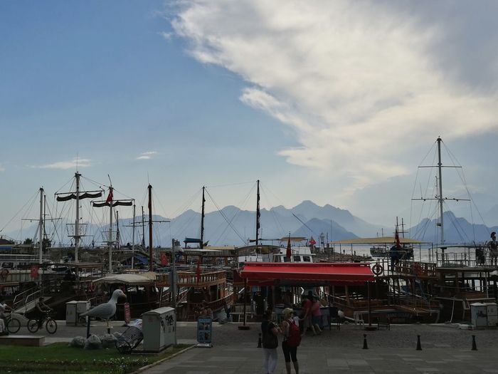Harbour View Sky Antalya Turkey Ship Ships Bad Photo View Moubtain Mountain View Sea And Sky Sea