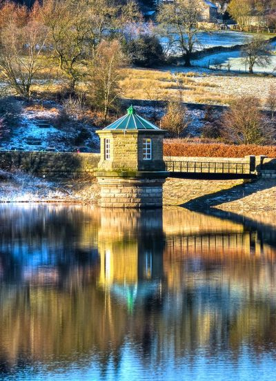 Reflections in the Errwood Reservoir Water Reflections Water Reflection Reservoir Winter Cold Snow Mirror Uk England