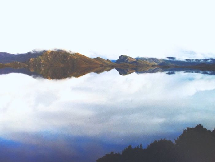 Low Clouds over Lake in Tasmania Wilderness Water Water Reflections Reflected Glory Cloud TasmaniaAustralia Wildernessculture World Heritage Site Reflection Reflections Reflection_collection Water_collection Waterscape IPS2016White