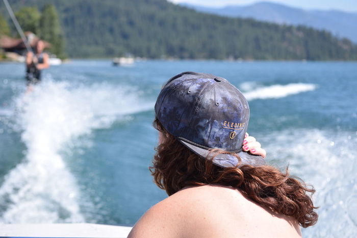 North Idaho Outdoors Water Backgrounds River Lake Sandpoint Lake Pend Oreille Day Redhead Snapback Boat Wakeboarding Summer Sunshine ☀