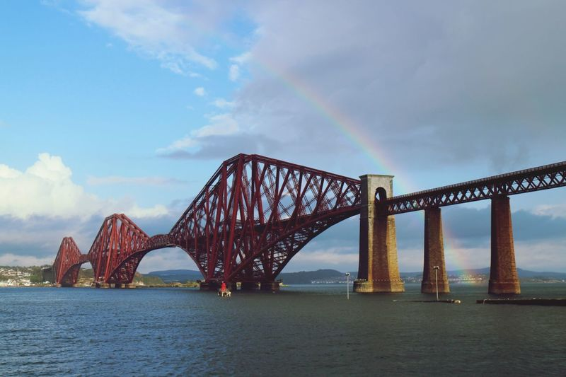 Forth Rail Bridge plus Rainbow! ForthRailBridge Scotland Queensferry  Studyabroad