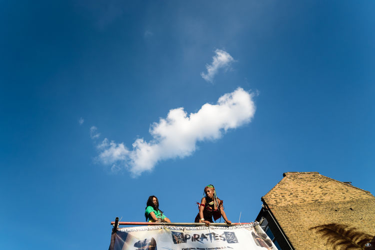 Notting Hill Carnival 2016 Architectural Feature Architecture Blue Building Exterior Built Structure Cloud - Sky Day Famous Place High Section Historic History Low Angle View No People Outdoors Sky Statue