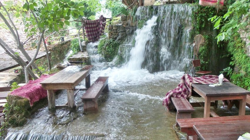 Whenever you're looking for a refreshing dinner... Hidden Gems  Water_collection Waterfall Table For Two Dinner With Friends Relaxing Check This Out Memories Of Summer