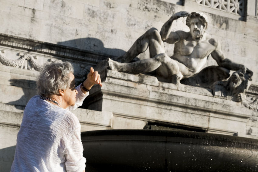 Rome, Italy, 2018 Italy Italia Rome Roma Street Streetphotography Street Photography Urban Fujifilm Fujifilm_xseries City Statue Sculpture Ancient Civilization Women History Young Women Fountain Architecture Building Exterior Monument War Memorial Memorial