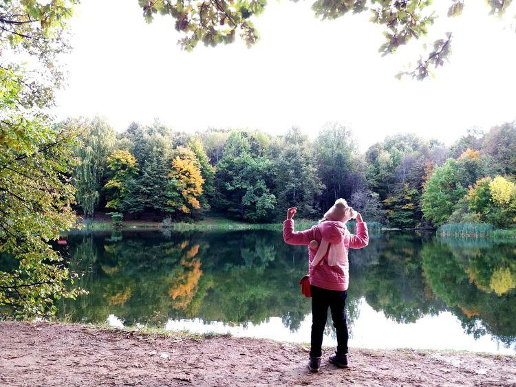 детство озеро семья прогулкинасвежемвоздухе Beauty In Nature нижний новгород городскойпарк щелковскийхутор осеньвроссии детицветыжизни Watercolor Painting Россия