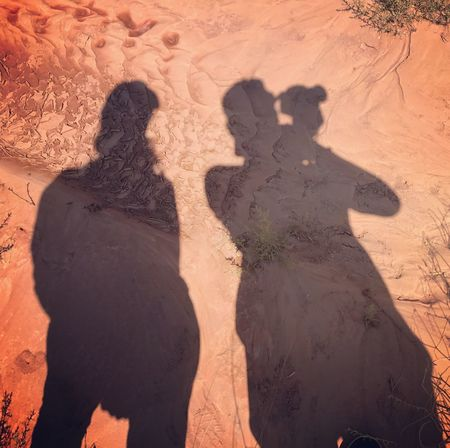 Sand Shadow Real People Sunlight Togetherness Leisure Activity Focus On Shadow High Angle View Day Arid Climate Outdoors Nature Desert Lifestyles Two People Friendship Sand Dune Men Beach Women