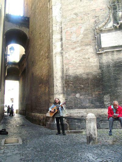Il Menestrello Live Music Street Musician Piazza Navona, Rome-Italy